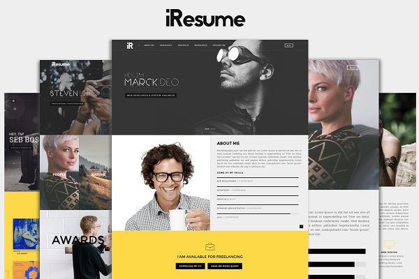 HTML/CSS Themes: HRProShop - iResume -Personal Resume & Portfolio