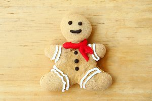 Ginger bread man cookie