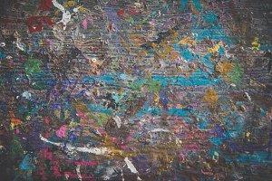 Grunge wooden paint splatter