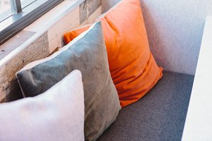 Pillows in a Well-lit Room