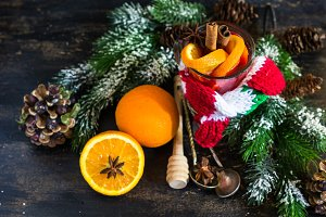 Christmas mulled tea