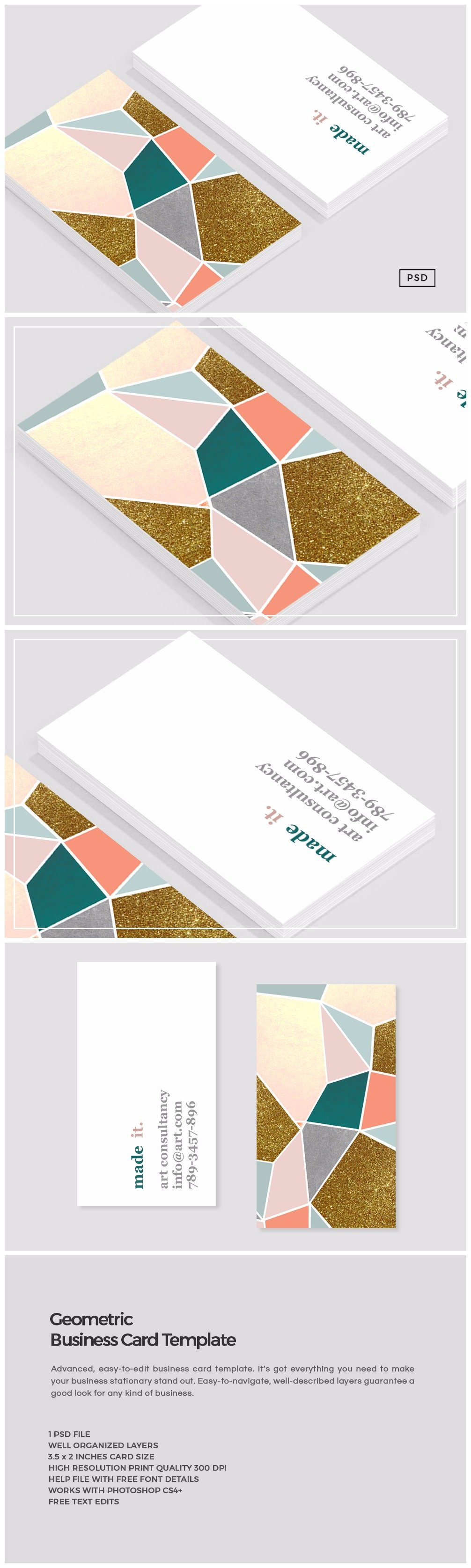 Geometric Business Card Template Business Card Templates - Got print business card template