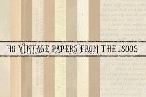 1800s Paper Pack 40 Hi-Res JPGs
