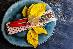 Autumna table setting