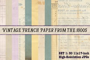 30 Vintage French Papers Pack