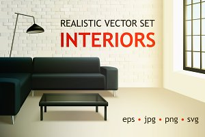 Realistic Interiors Set