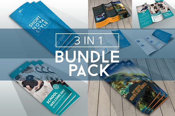 bundle trifolds indesign templates brochure templates creative