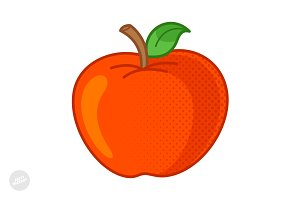 Apple Cartoon Vector