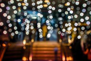 Abstract subway night lights