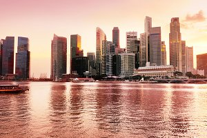 Singapore in red colors