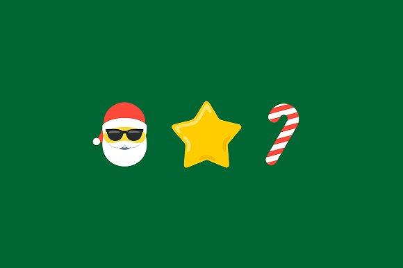 Abstract Flat Style Christmas Emoji
