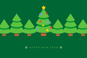 Happy new year vector greeting card