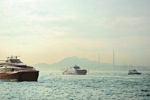 Hong Kong ferry boatsv