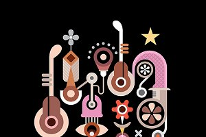 Music Machine vector illustration