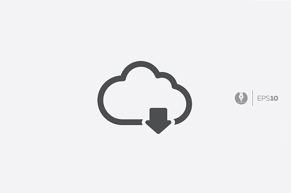 Abstract Vector Cloud Service Icon