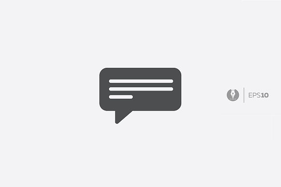 Abstract Message Letter Chat Icon