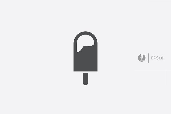 Abstract Vector Ice-cream Icon