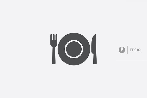Abstract Plate Menu Icon