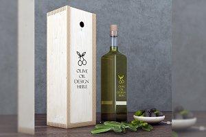 Minimalist Olive Oil Mockup Set
