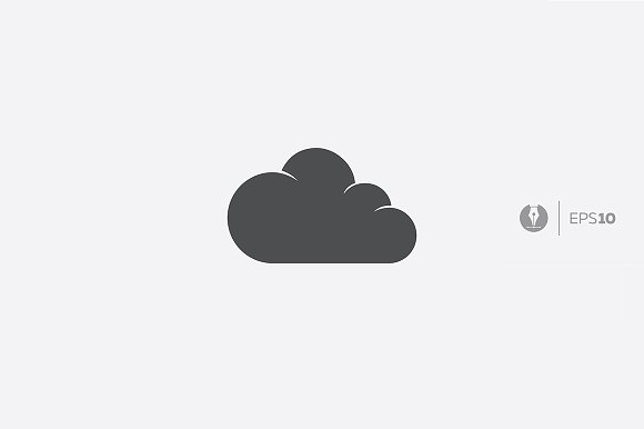 Abstract Vector Cloud Icon