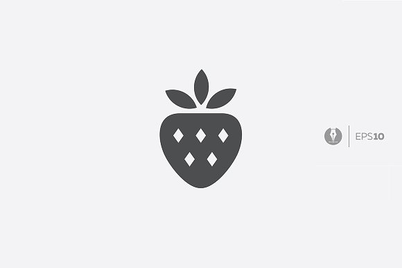 Abstract Vector Strawberry Icon