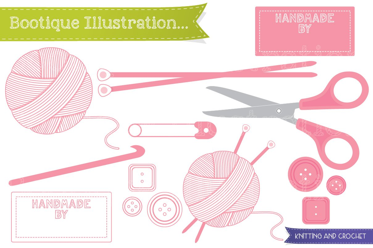 Free Knitting Icons Clipart : Knitting and crochet vector graphics creative