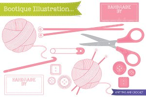 Knitting and Crochet Vector Graphics