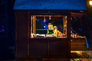 Illuminated shop for gifts