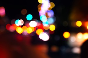 Bokeh traffic light background.