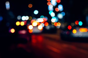 Abstract Night traffic lights