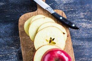 Fresh organic apples