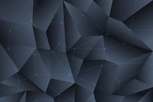 Polygon black crystal background