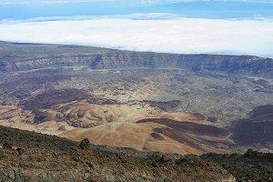 Huge crater mound