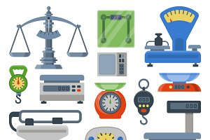 Vector weight scales tools
