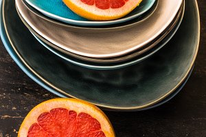 Ripe organic citrus fruits