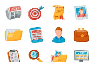 Vector job search icon set