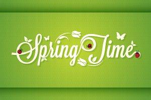 Spring Time Vintage Lettering.