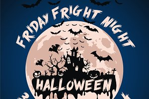 Halloween Friday Fright Night Flyer