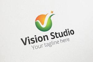 Vision Studio - V Letter Logo