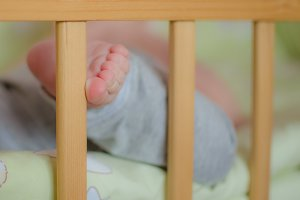 Cute baby's toes