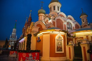 The Church and the Kremlin night