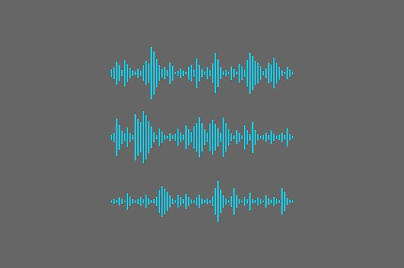 Equalizer sound waves collection in Objects