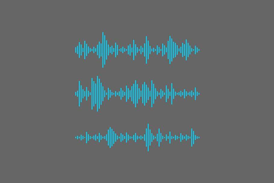 Equalizer sound waves collection in Objects - product preview 8