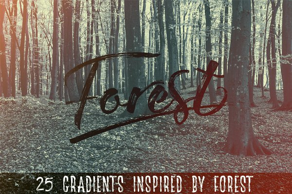 Gradients: Creative Supplies Co. - The Forest - 25 Gradients