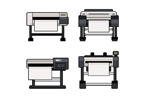 Plotter Icons Set