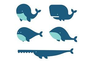 Whale Icon Set