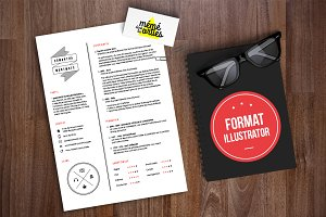 Montmots - Resume template Illustrat