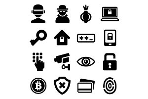 Dark Deep Internet and Security Icon
