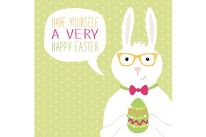 Cute hand drawn Easter card