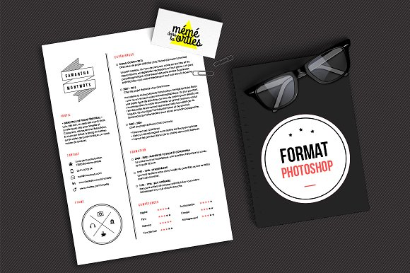 montmots resume template photoshop resumes - Photoshop Resume Templates